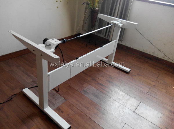 sit and stand up electric height adjustable desk with single motor