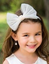 2015 Wholesale newborn infant hairband babi headband flower headband with big bow sweetheart birthday hair accessories