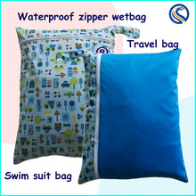 Washable Reusable Waterproof Cloth Diaper Wetbag, Zip-closure Wet Dry Bag,AI2 all in one size diaper wetbag