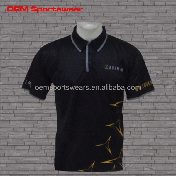 High quality custom logo polo shirt dry fit for Custom dry fit polo shirts