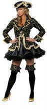 Fantasia de pirata, feminino traje cosplay, deluxe traje de halloween