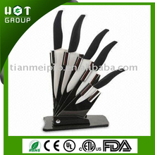 Fully stocked designed handle Ceramic Knife Set