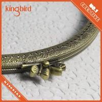 Fshion Kiss lock metal screw purse frame Clutch Bag Metal Frame