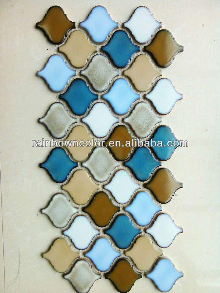 Glazed Ceramic Mosaic Tile For Arabesque Lantern Shape - Buy Arabesque ...