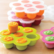 homemade popular 100% food grade durable silicone baby food container