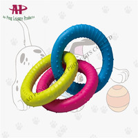 Pet Toy Dog Rubber Toy Colorful Circle Chew Toy