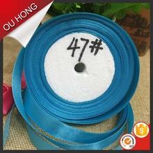 1 Inch Blue Satin Ribbon Christmas Packing Tape