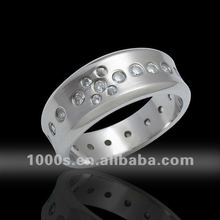 Men's Titanium Ring with Shiny Spark surface