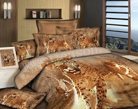 3d animal printed leopard bedding sets 100% cotton duvet cover queen bed set luxury wedding bright color bed sheet sets