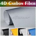 La venta de TeckWrap engomada del coche caliente 1.52 * 20 5 * 65ft 5 colores 4d fibra de carbono etiqueta engomada del coche de
