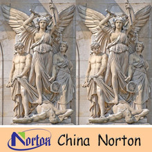 hand carved marble angel statue outdoor decoration NTMS-R136S