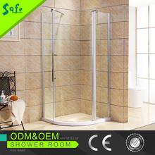 Portable simple round glass shower enclosure made in Gongdong