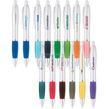 curvaceous silver matte gel pen; Personalized Pens; Customized Pens (LU-Q21231)