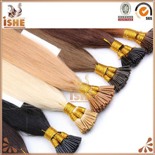 Hot sale Fusion i tip hair prebonded best quality human hair extensions keratin