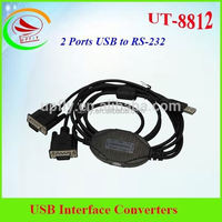 Upfly UT-8812 driver usb to rs232 cable 2 Ports USB to RS-232 Serial Converter