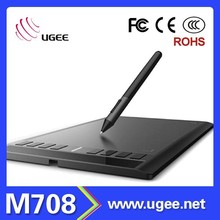 "Ugee M708 New Graphics Tablet Pad Pen Drawing Art Design Large Area 10""x6.25"""