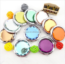 Wedding favor-- Colorful Crystal Beauty Mirrors Bridal Shower Favors Compact Mirror
