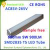 Ecology friendly CE ROHS cool white T5 9w 48pcs SMD2835 ube8 led light tube 8 china