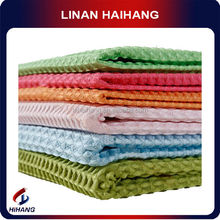 China wholesale high quanlity rust removal waffled microfiber cleaning towel
