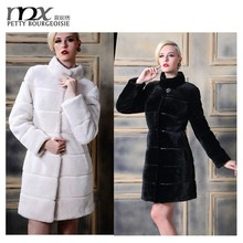 New arrival fashion long rabbit fur coat for women