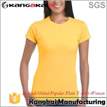 Popular Global cotton 180g lady new style tall t-shirts wholesale 76000L