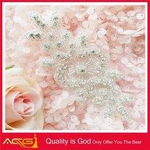 Custom Design Fashionable Shinny Wedding Sashes Bling Bridal hand embroidery duvet cover