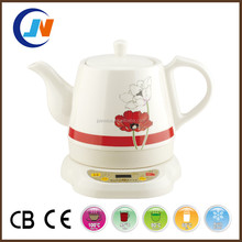 red Nelumbo nucifera white ceramic kettle 1.2L ceramic electrical kettle