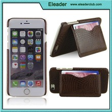 crocodile pu leather for iphone 6 case with stand