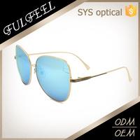 Latest model Italy design ce sun glasses classic round metal frame sunglasses