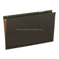 100% Recycled Reinforced Hanging File Folders, Letter, 5 Tab, 50/Box
