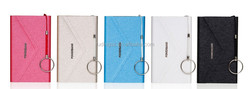 new and hot USB pocket wallet power bank charger, OEM real 4000mAh capacity portable mobile phone charger,super thin wallet