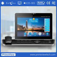 "Android VoIP Phone, 720p HD 10.1"" Touch Screen, 6 SIP+1 PSTN"