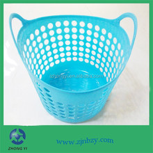 HDPE Colorful Handle Plastic laundry Baskets