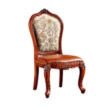 ومن ناحية منحوتة خشبية فاخرة bisini النسيج الإطار كرسي الطعام