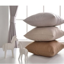Luxury natural French linen lined curtain panel and sofa cushion