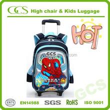 Popular Boy Students Best Hero Trolley Book Bag, Dismountable Kids Primary School Bag