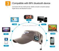 Sport cap 2015 Wireless Bluetooth cap Headset Headphones 4.1 version Speaker with Mic