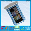 IPX8 popular blue pvc phone waterproof bag for iphone