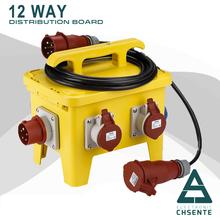 12 móvil impermeable socket caja 3 fase de distribución caja eléctrica impermeable