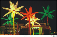 Festival led coconut palm tree light , bule and green outdoor led tree for decoration