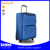 3PCS materical fabric polyester soft EVA travelling luggage bag with PVC cover