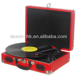 RCA output vinyl turntable portable style/lp turntable player