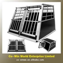 Large aluminium two doors pet dog cage