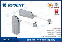 [ST.6210] 400-1600mm grey zinc alloy soft close hydraulic flap stay