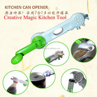 2015 new product magic kitchen tool multifunctional can opener creative bottle opener 8 in 1