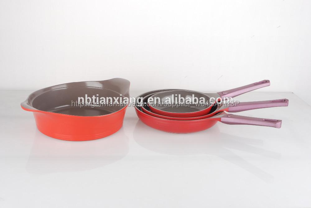 Korea stil sterben- gießen von aluminium keramik kochtopf-sets, Pfanne, kasserolle, wolk Pfanne