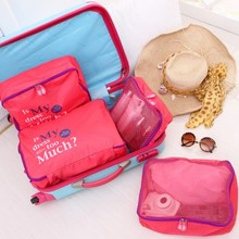 Waterproof nylon travel receive bag five-piece set