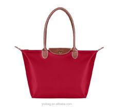 large foldable satin family shopping bags