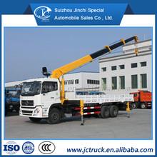 Dongfeng Tianlong 10 ton truck crane, para trabajo pesado de la grúa camión, la grúa camión precio para la caliente venta