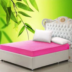 TERRY NEW BAMBOO FABRIC MATTRESS PROTECTOR COVER WATERPROOF SAFE
